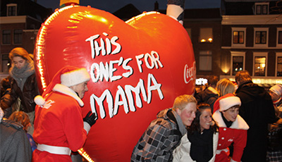 Inflatable reclame Coca Cola